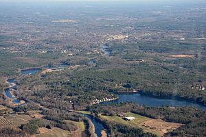 Assabet River - Assabet River channel in Stow, Massachusetts