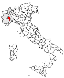 Location of Province of Asti