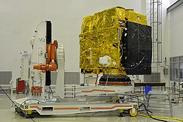 Astrosat-1 prelaunch preparation in cleanroom 04.jpg