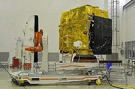 Astrosat-1 prelaunch preparation in cleanroom 04.jpg