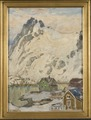 At the Foot of the Mountain. Study from Lofoten (Anna Boberg) - Nationalmuseum - 20461.tif