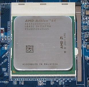 L'Athlon 64, prima CPU a 64 bit compatibile con l'architettura x86