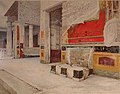 Atrium of the House of the Vetti VI 15 1 in Pompeii, 1895 by Luigi Bazzani.jpg