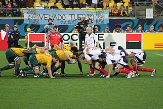 United States national rugby union team - Australia scrum against the U.S. at the 2011 RWC.