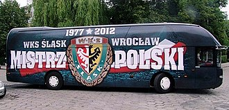 Śląsk Wrocław - The team bus in season 2012–2013