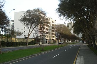 San Isidro District, Lima - Santo Toribio Avenue.