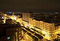 Avenue Habib Bourguiba, Tunis by Night, 20 mars 2015.jpg