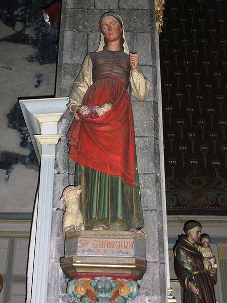 Avesnes-sur-Helpe (Nord, Fr) la collegiale statue Ste Germaine de Pibrac