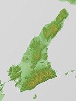 淡路島の地形図
