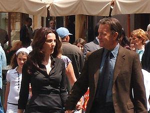 Ayelet Zurer - Zurer and Tom Hanks outside the Pantheon (''Angels & Demons'', 2008)