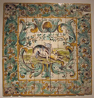 Tiles (c.1660) in the National Tile Museum in ...