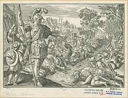 Gideon vælger soldater ud som sin armé.