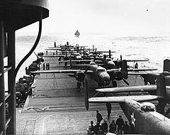 B-25 on the deck of USS Hornet during Doolittle Raid.jpg