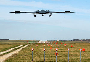 72d Test and Evaluation Squadron - B-2 Spirit landing at Whiteman AFB