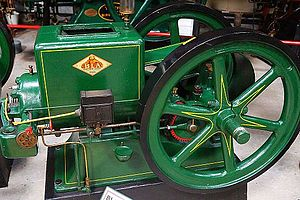 The Engine Collection - Small stationary engines under 10 Hp, like this cast iron Danish B.L.A.-motor where typical for farm-use before electrification introduced the electric motor.
