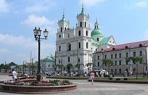 BELARUS - GRODNO (Гродна). Farny catholic church.