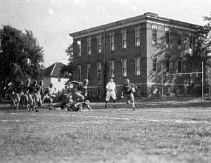 Bowling Green Falcons football - A game at the Ridge Street School in 1921.