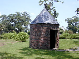 Smoked salmon - A smoke house at Boone Hall Plantation