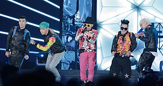 "Fantastic Baby - Big Bang performing ""Fantastic Baby"" during K-Collection fashion show."