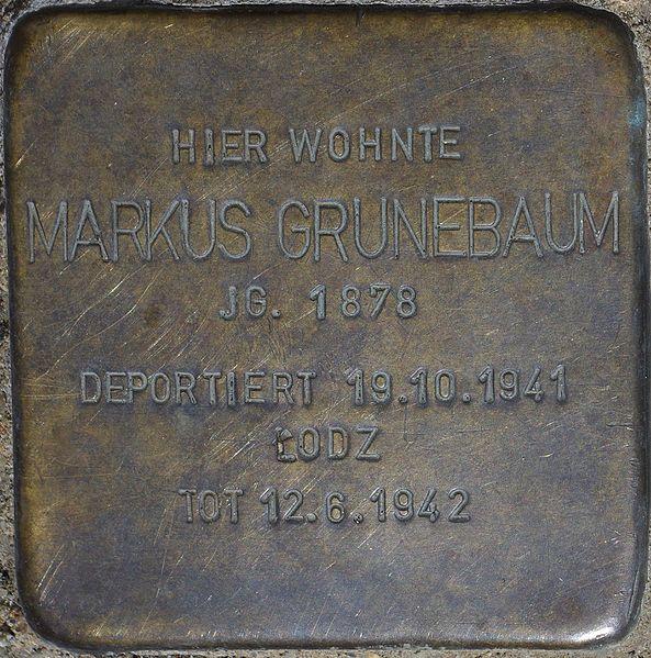 Datei:Bad Soden am Taunus, Alleestr. 24, Stolperstein Markus Grünebaum.jpg