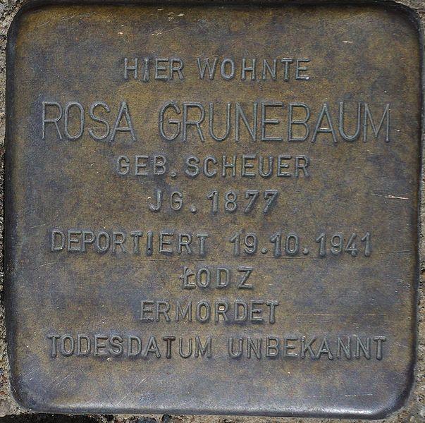 Datei:Bad Soden am Taunus, Alleestr. 24, Stolperstein Rosa Grünebaum.jpg