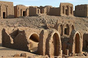 Kharga Oasis - The El Bagawat Christian cemetery at Kharga Oasis