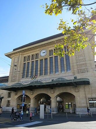 Alphonse Laverrière - Image: Bahnhof Lausanne 2