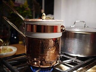 Bain-marie double boiling