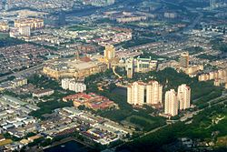 Aerial view of Sunway (looking northeast) in February 2011