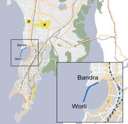 Bandra-Worli Sea Link Map.png