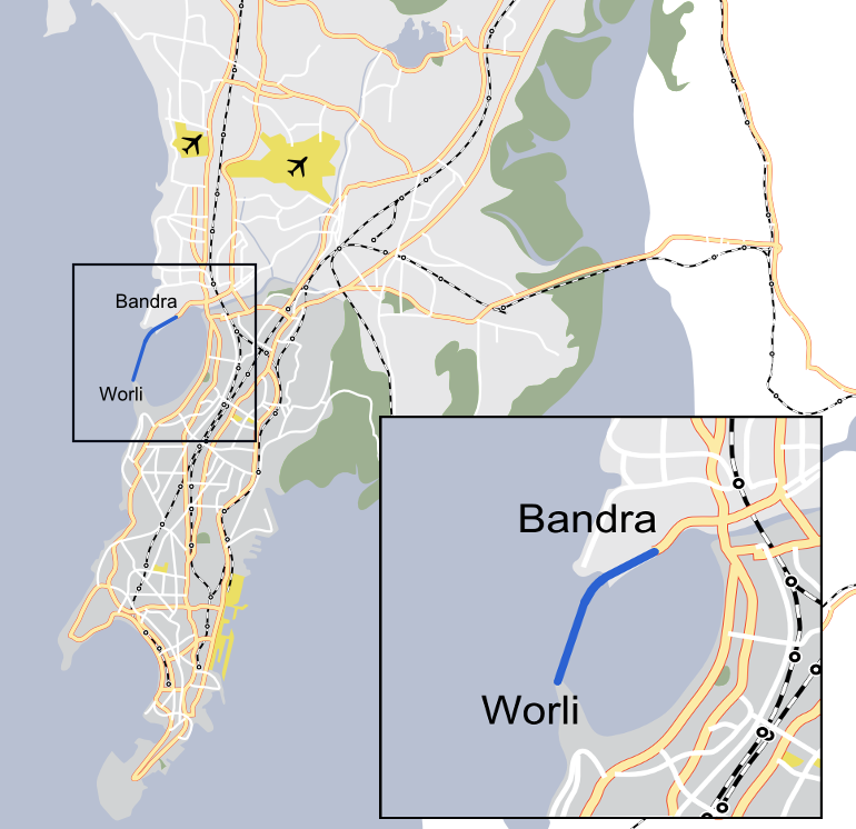 Bandra-Worli Sea Link Map