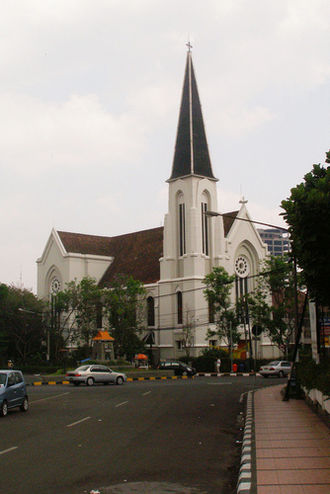 Charles Prosper Wolff Schoemaker - Image: Bandung Cathedral Indonesia