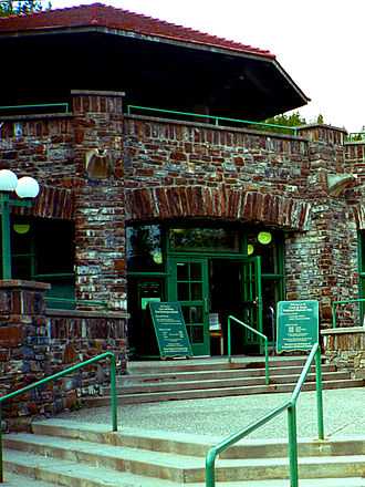 Cave and Basin National Historic Site - The entrance to the Cave and Basin building.