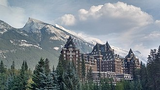 Banff Springs Hotel - Banff Springs Hotel is situated within the Rocky Mountains range.