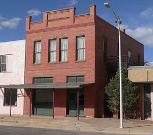 National Register of Historic Places listings in Roosevelt County, New Mexico - Image: Bank of Portales building from SSW 1