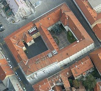 Banski dvori - Image: Banski dvori iz zraka