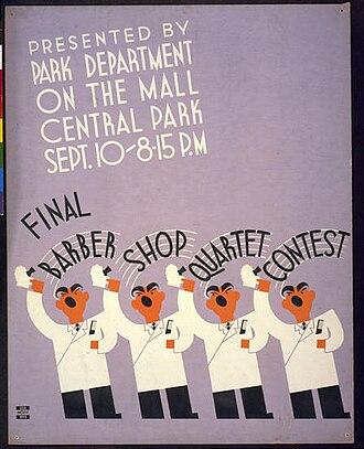 Barbershop music - WPA poster, 1936
