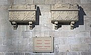 Barcelona Cathedral Interior - Royal tombs in the Cathedral of Barcelona.jpg