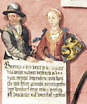 Barnim VIII, Duke of Pomerania - Barnim VIII and his wife Anna