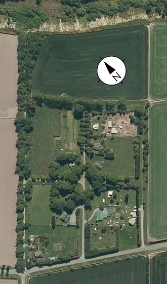 Barrhill, New Zealand - Aerial photo of Barrhill showing what appears to be the three circles of Trinity