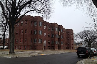 National Register of Historic Places listings in Cass County, North Dakota - Image: Barrington Apartments Fargo, ND