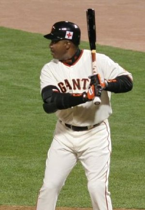 Barry Bonds at the plate.