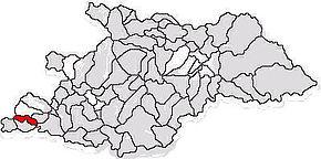 Localizarea comunei Băsești în județul Maramureș