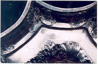 Silver hallmarks - 1680 maker's mark on base of a candlestick, for Robert Cooper, London