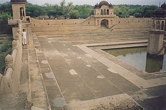 Stepwell - View of a stepwell at Fatehpur, Shekhawati