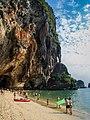 Beach Railay beach, Thailand - Strand (19940251718).jpg
