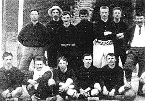 History of the Belgium national football team - The Belgian team before making their international debut against France, on 1 May 1904