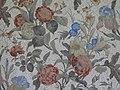 Belsay Hall - red-flowered bedroom wallpaper - geograph.org.uk - 1476544.jpg