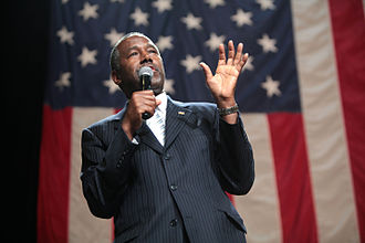 2016 Republican Party presidential primaries - An autumn surge had former neurosurgeon Ben Carson polling even with Trump at one point, but his support decreased significantly following the terrorist attacks in Paris, which highlighted Carson's perceived inexperience on foreign policy. He later suspended his campaign after four last-place finishes on Super Tuesday and endorsed Trump in response to Fiorina endorsing Cruz.