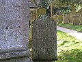 Bench Mark on the church at Easton on the Hill - geograph.org.uk - 1737682.jpg